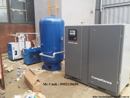 Hệ thống máy nén khí trục vít Compkorea 50HP