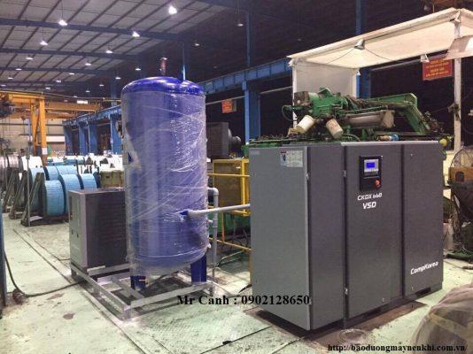 Máy nén khí biến tần Compkorea 50HP lắp đặt tại NSS Steel KCN Quế Võ