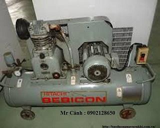 Máy nén khí piston Hitachi Bebicon không dầu
